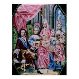 Carte Postale La famille de l'empereur Peter I, le grand, 1717