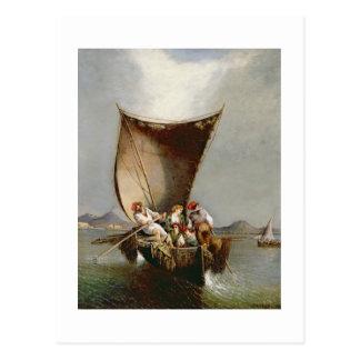 Carte Postale La famille du pêcheur (huile sur la toile)