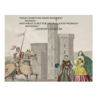 Carte Postale La femme de Chaucer est meilleure que la sagesse