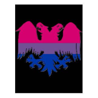 Carte Postale La fierté de GLBT Biseuxal Double-A dirigé Eagle