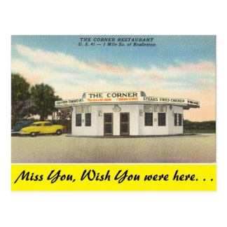 Carte Postale La Floride, Bradenton, le restaurant faisant le