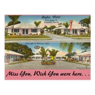 Carte Postale La Floride, Bradenton, motel de Boyles