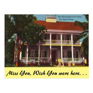 Carte Postale La Floride, Key West, vieille Chambre de Lowe