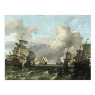 Carte Postale La flotte néerlandaise de la compagnie de l'Inde,
