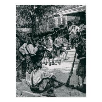Carte Postale La foule de Shays en possession d'un tribunal