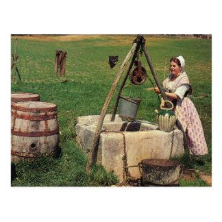 Carte Postale La France vintage, Madame au bien, la Provence