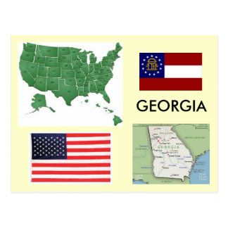 Carte Postale La Géorgie, Etats-Unis