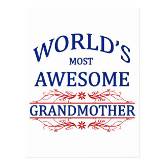 Carte Postale La grand-mère la plus impressionnante du monde