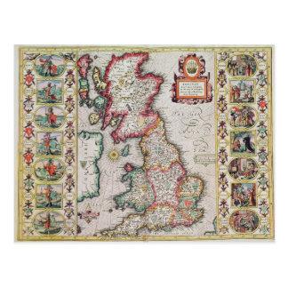Carte Postale La Grande-Bretagne comme elle a été divisée dans