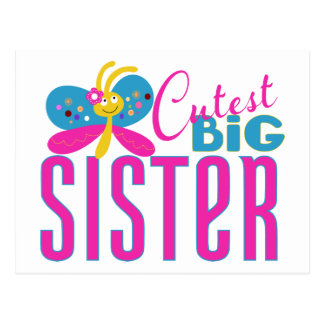 Carte Postale La grande soeur la plus mignonne - papillon