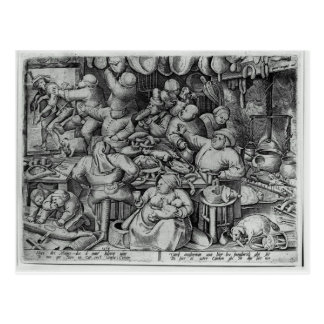 Carte Postale La grosse cuisine par Pieter Bruegel l'aîné