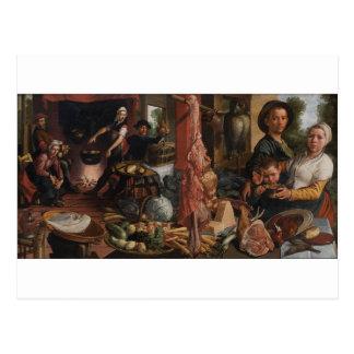 Carte Postale La grosse cuisine. Une allégorie par Pieter