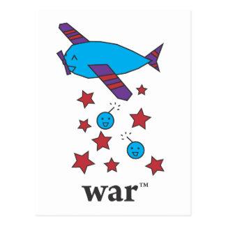 Carte Postale La guerre (TM) a barré l'avion de bombardier