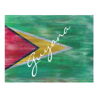 Carte Postale La Guyane a affligé le drapeau