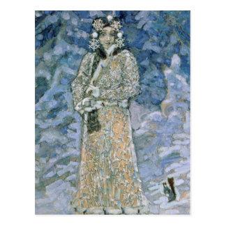 Carte Postale La jeune fille de neige, un croquis pour l'opéra