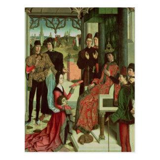 Carte Postale La justice de l'empereur Otto : Procès par le feu