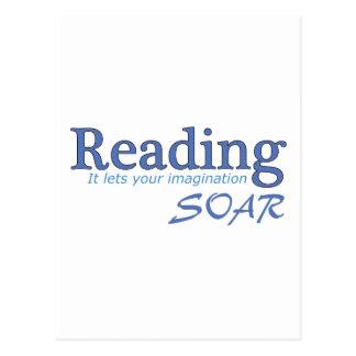 Carte Postale La lecture… de lui laisse votre imagination monter
