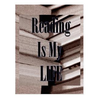 Carte Postale La lecture est ma vie