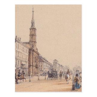 Carte Postale La ligne du chasseur à Vienne par Rudolf von Alt