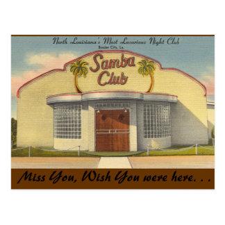 Carte Postale La Louisiane, club de samba, une ville plus