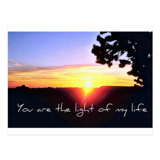 Carte Postale La lumière de ma vie