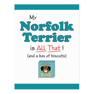Carte Postale La ma Norfolk Terrier est toute cela !