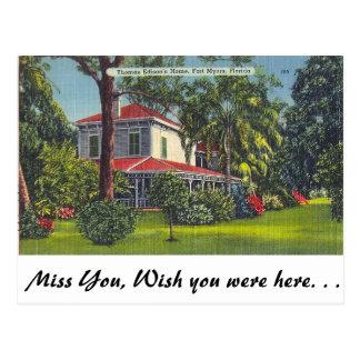 Carte Postale La maison d'Edison, Fort Myers, la Floride