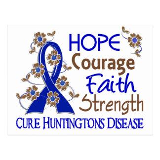 Carte Postale La maladie de Huntington de la force 3 de foi de