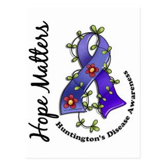 Carte Postale La maladie de Huntington de sujets d'espoir du