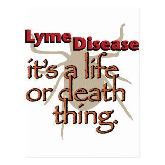 Carte Postale La maladie de Lyme - c'est une chose de vie ou de
