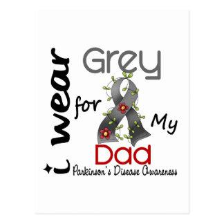 Carte Postale La maladie de Parkinsons je porte le gris pour mon