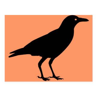 Carte Postale La meilleure corneille Halloween de noir des prix