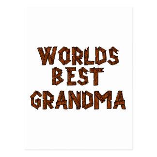 Carte Postale La meilleure grand-maman du monde
