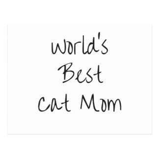 Carte Postale La meilleure maman du chat du monde - noir