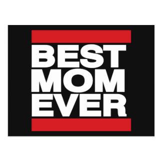 Carte Postale La meilleure maman toujours rouge