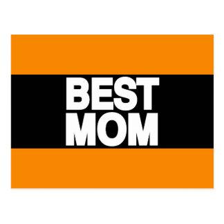Carte Postale La meilleure orange d'atterrisseur de maman