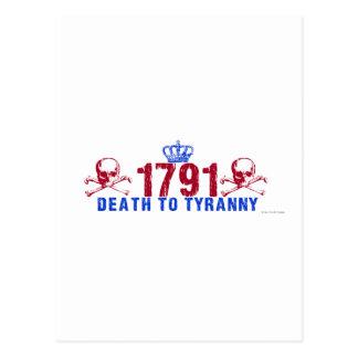 Carte Postale La mort à la tyrannie