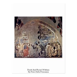 Carte Postale La mort et enterrement d'Adam par Piero della