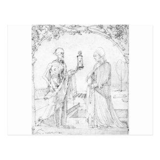 Carte Postale La mort et épouse par Albrecht Durer