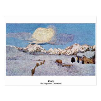 Carte Postale La mort par Segantini Giovanni