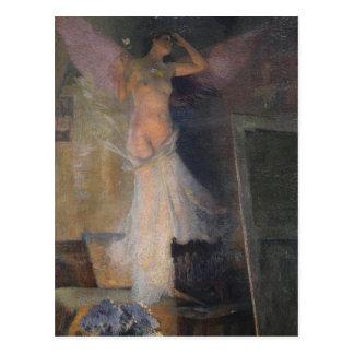 Carte Postale La Muse du peintre par Henri Martin