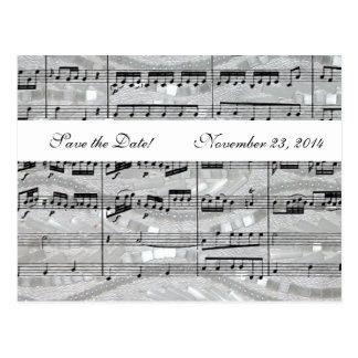 Carte Postale La musique de Mozart et de perles font gagner la