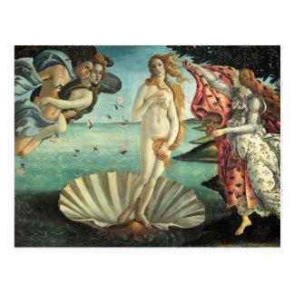 Carte Postale La naissance de Vénus - art classique par
