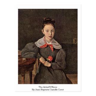 Carte Postale La nièce des artistes par Jean-Baptiste Camille