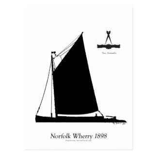 Carte Postale La Norfolk 1898 Wherry - fernandes élégants