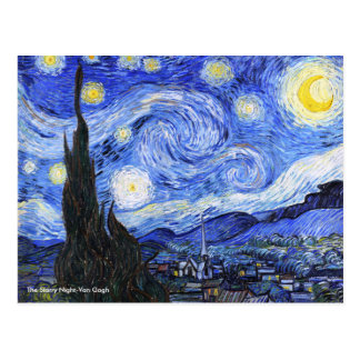 Carte Postale La nuit étoilée par Vincent van Gogh