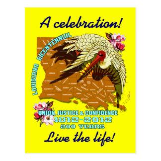 Carte Postale La partie bicentenaire de mardi gras de la