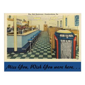 Carte Postale La Pennsylvanie, restaurant bleu d'oiseau,