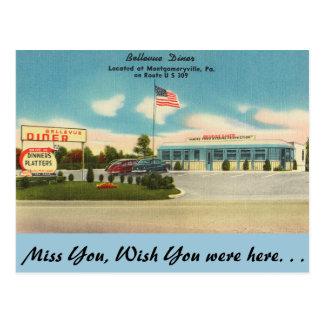 Carte Postale La Pennsylvanie, wagon-restaurant de Bellevue,