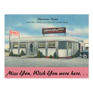 Carte Postale La Pennsylvanie, wagon-restaurant de Clearview